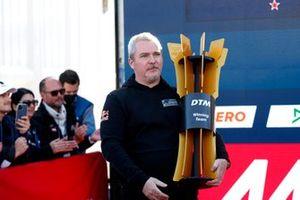 Champion podium: Team trophy for AF Corse