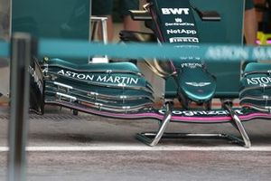 Aston Martin AMR21 detail front wing