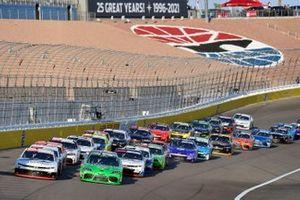 A.J. Allmendinger, Kaulig Racing, Chevrolet Camaro Hyperice and Ty Gibbs, Joe Gibbs Racing, Toyota Supra Interstate Batteries