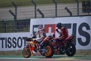 Ganador Francesco Bagnaia, Ducati Team, segundo Marc Márquez, Repsol Honda Team