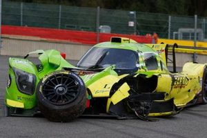 #13 Inter Europol Competition Ligier JS P320 - Nissan LMP3, Martin Hippe, Ugo De Wilde, Aidan Read, after the crash