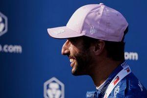 Daniel Ricciardo, McLaren, 3rd position, celebrates