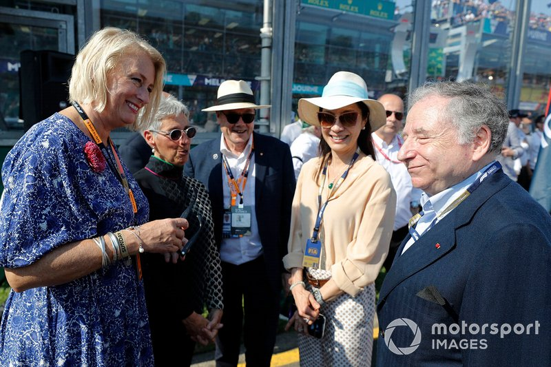 VIPs n the grid, Jean Todt, FIA President and his wife Michelle Yeoh
