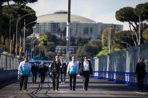 Oliver Turvey, NIO Formula E Team, on a track walk