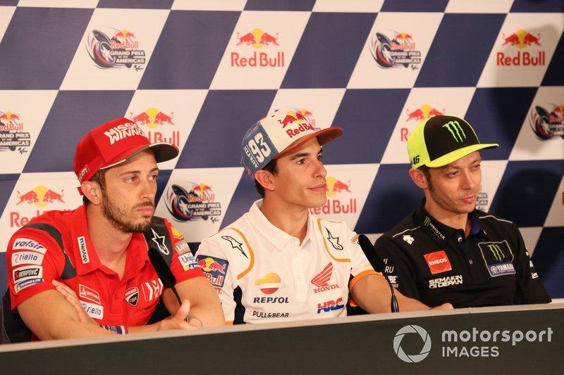 Andrea Dovizioso, Ducati Team, Marc Marquez, Repsol Honda Team, Press Conference