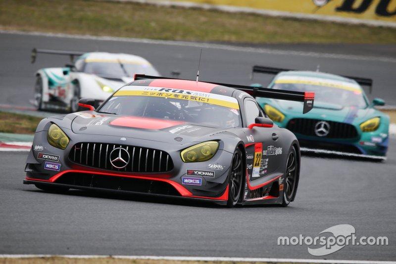 #22 R'Qs AMG GT3: Hisashi Wada, Masaki Jyonai