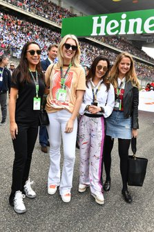 Michelle Yeoh, wife of Jean Todt, FIA presidents with guests on the grid