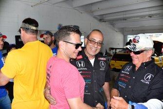 Lawrence Loshak visits Herbert Gomez and Jim Dentici
