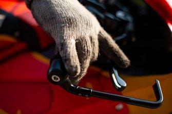 KTM bike details, mechanic hand