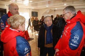 Jean Todt, FIA President visit the Citroën World Rally Team