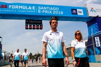 Tom Dillmann, NIO Formula E Team on the track walk
