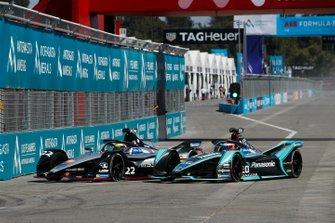 Oliver Rowland, Nissan e.Dams, Nissan IMO1 y Mitch Evans, Jaguar Racing, Jaguar I-Type 3