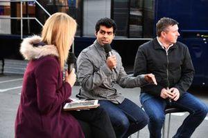 Rachel Brooks, Sky TV, Karun Chandhok, Sky TV and David Croft, Sky TV Commentator