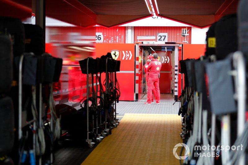 Ferrari garage rear