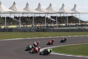 Valentino Rossi, Yamaha Factory Racing, Andrea Dovizioso, Ducati Team, Franco Morbidelli, Petronas Yamaha SRT, Jack Miller, Pramac Racing, Danilo Petrucci, Ducati Team, Maverick Vinales, Yamaha Factory Racing