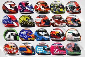 Les casques 2019 des pilotes de F1