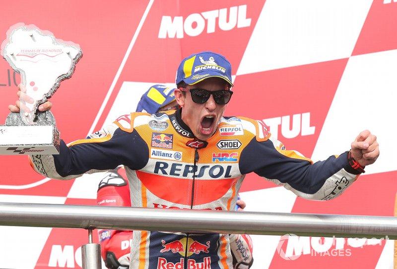 Подіум: переможець гонки Марк Маркес, Repsol Honda Team