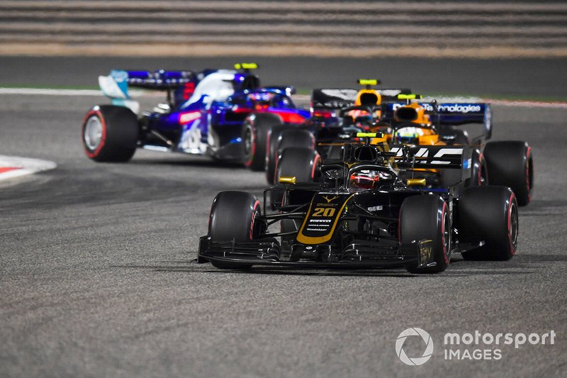 Kevin Magnussen, Haas F1 Team VF-19, Lando Norris, McLaren MCL34, Pierre Gasly, Red Bull Racing RB15, Alexander Albon, Toro Rosso STR14