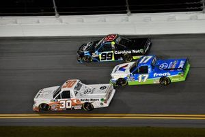 Brennan Poole, On Point Motorsports, Toyota Tundra, David Gilliland, DGR-Crosley, Toyota Tundra fred's, and Ben Rhodes, ThorSport Racing, Ford F-150