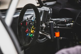 Steering wheel detail, Team Hansen