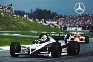 Nelson Piquet, Brabham BT53 BMW, Alain Prost, McLaren MP4/2 TAG