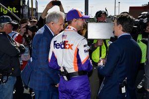 Denny Hamlin, Joe Gibbs Racing, mit Darrell Waltrip und Jeff Gordon
