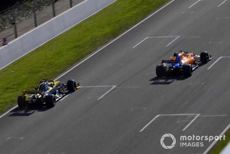Daniel Ricciardo, Renault F1 Team R.S. 19 e Lando Norris, McLaren MCL34