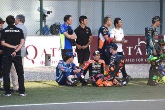 Алекс Ринс, Team Suzuki Ecstar, Алеш Эспаргаро, Aprilia Racing Team Gresini, и Пол Эспаргаро, Red Bull KTM Factory Racing