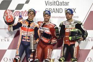 Podio: il secondo classificato Marc Marquez, Repsol Honda Team, il vincitore della gara Andrea Dovizioso, Ducati Team, il terzo clasificato Cal Crutchlow, Team LCR Honda