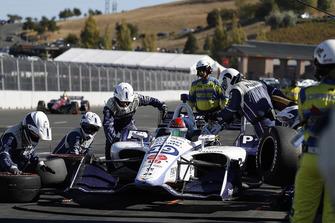 Pietro Fittipaldi, Dale Coyne Racing Honda, pit stop