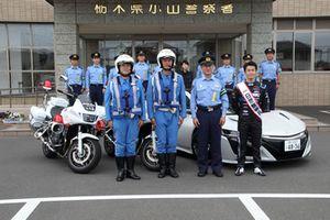 山本尚貴、1日警察署長イベント(栃木県小山警察署)