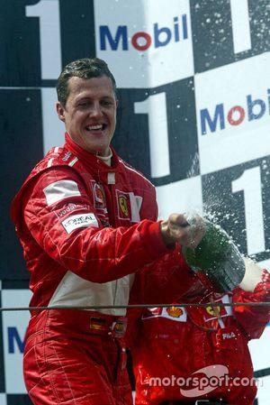 Podio: Ganador, Michael Schumacher, Ferrari