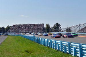 Denny Hamlin, Joe Gibbs Racing, Toyota Camry FedEx Ground, Kyle Busch, Joe Gibbs Racing, Toyota Camry M&M's Flavor Vote Winner, Chase Elliott, Hendrick Motorsports, Chevrolet Camaro SunEnergy1