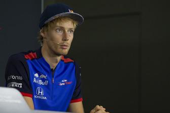 Brendon Hartley, Scuderia Toro Rosso lors de la conférence de presse