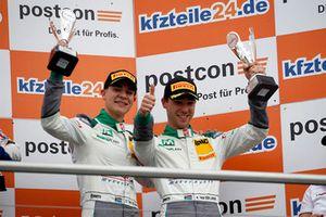 Podium: third plae #28 Montaplast by Land-Motorsport Audi R8 LMS: Sheldon van der Linde, Kelvin van der Linde