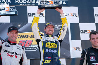 Podium: race winner Alex Tagliani, second place Louis-Philippe Dumoulin, third place Alex Labbe