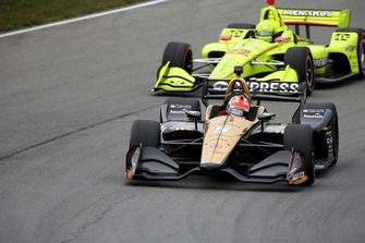 James Hinchcliffe, Schmidt Peterson Motorsports Honda, Simon Pagenaud, Team Penske Chevrolet