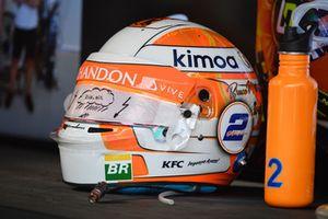 The helmet of Lando Norris, McLaren