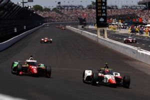 Pietro Fittipaldi, Dale Coyne Racing with RWR Honda, Santino Ferrucci, Rahal Letterman Lanigan Racing Honda