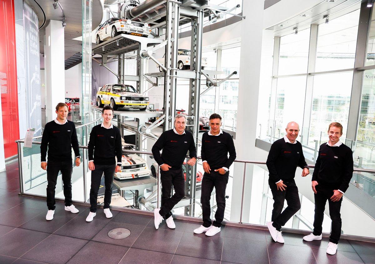 Mattias Ekström, Emil Bergkvist, Carlos Sainz, Lucas Cruz, Stéphane Peterhansel, Édouard Boulanger, Audi Sport