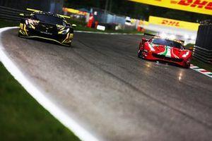 #60 Iron Lynx Ferrari 488 GTE EVO: Claudio Schiavoni, Andrea Piccini, Matteo Cressoni #51 AF Corse Ferrari 488 GTE EVO: Alessandro Pier Guidi, James Calado