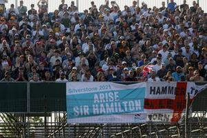 Fans pack out the grandstands in support of Lewis Hamilton, Mercedes