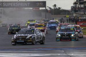 Andre Heimgartner, NED Racing, Ford Mustang, mène la course