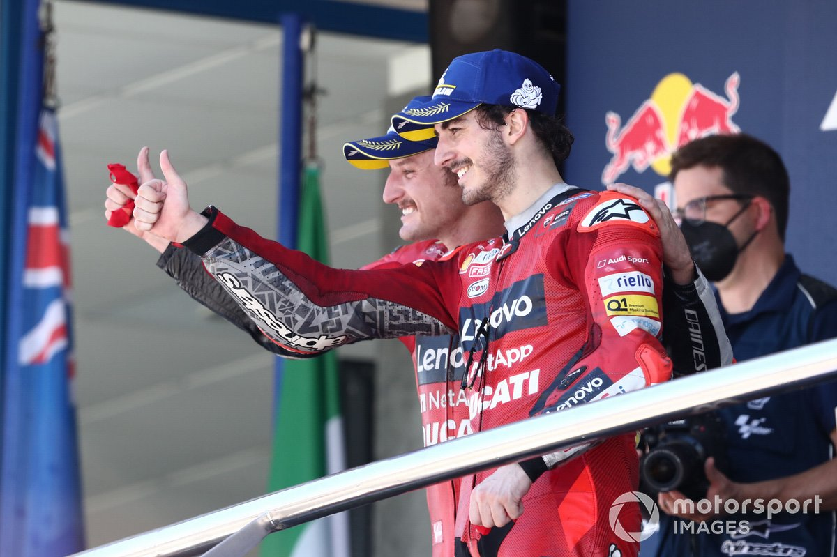 Podio: Jack Miller, Ducati Team, Francesco Bagnaia, Ducati Team