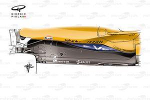 Piso anterior del McLaren MCL35M
