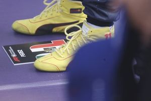 The boots of Sergio Perez, Red Bull Racing