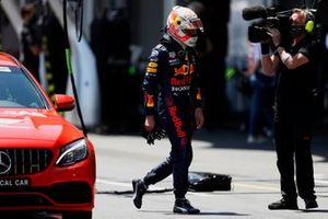 Max Verstappen, Red Bull Racing, after his crash in FP3