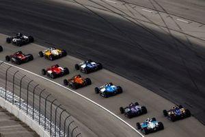 Patricio O'Ward, Arrow McLaren SP Chevrolet, Graham Rahal, Rahal Letterman Lanigan Racing Honda