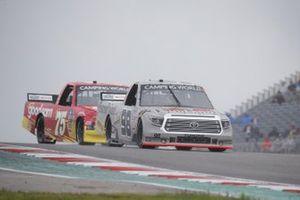 Christian Eckes, ThorSport Racing, Toyota Tundra Farm Paint/CurbRecords, Parker Kligerman, Henderson Motorsports, Chevrolet Silverado Food Country USA