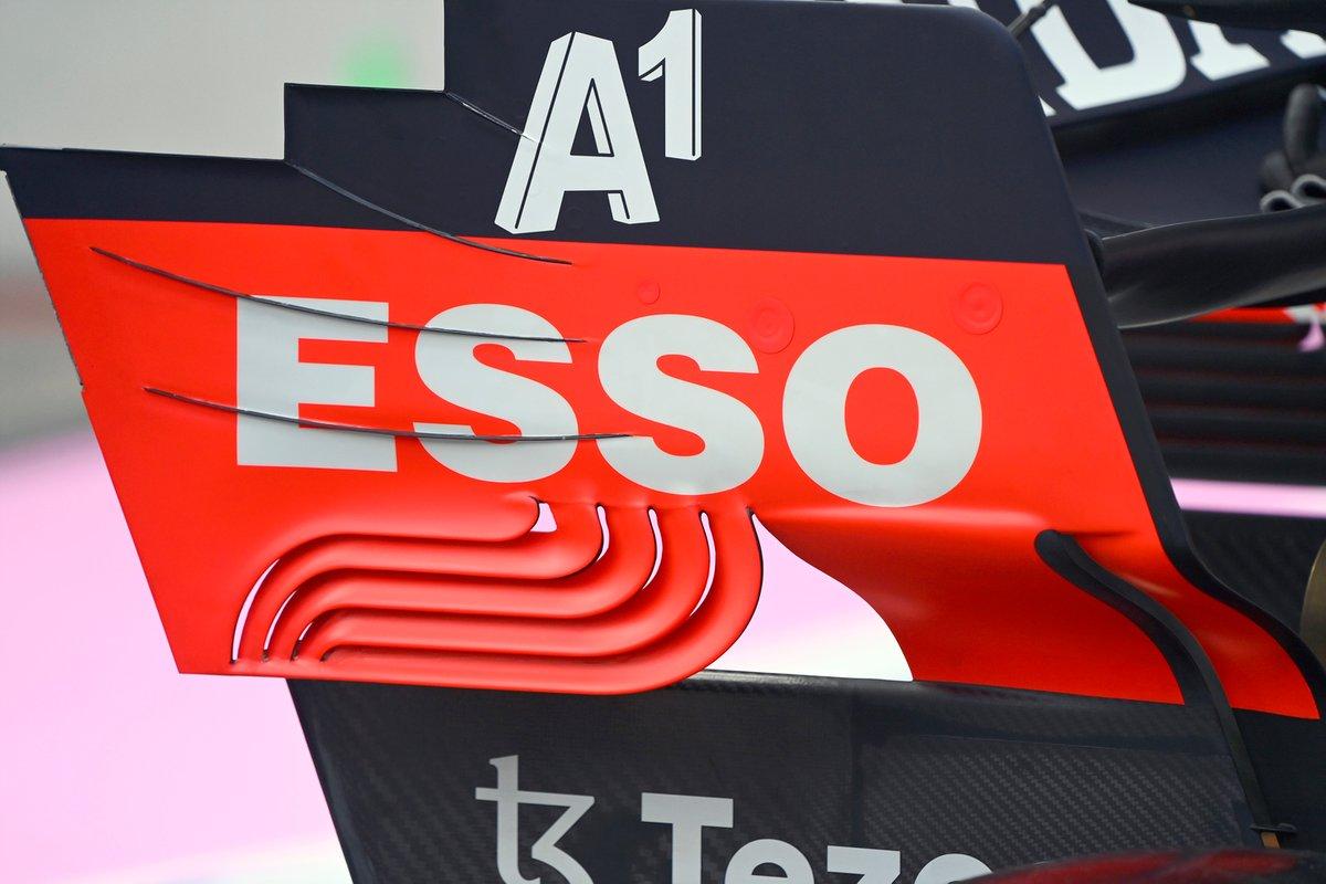 Detalle del alerón trasero del Red Bull Racing RB16B